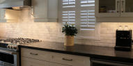 Backsplash Edged Tiles Brick Pattern
