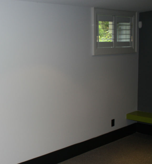 Basement Painted Walls