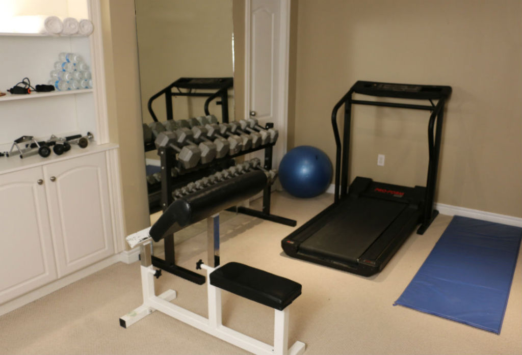 Exercise gym workout fitness room renovations remodeling for Basement concepts