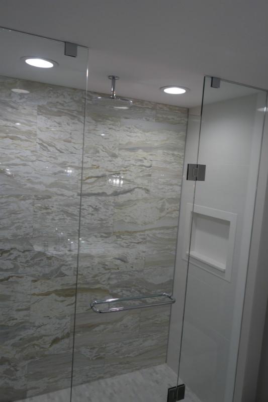 Bathroom Glass Shower Storage