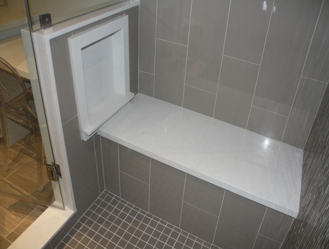 Builtin Shower Bench