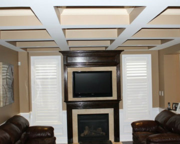 Burlington Wall Unit Waffle Ceiling