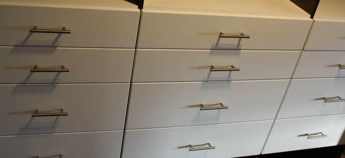 Cabinet Maker White Drawers