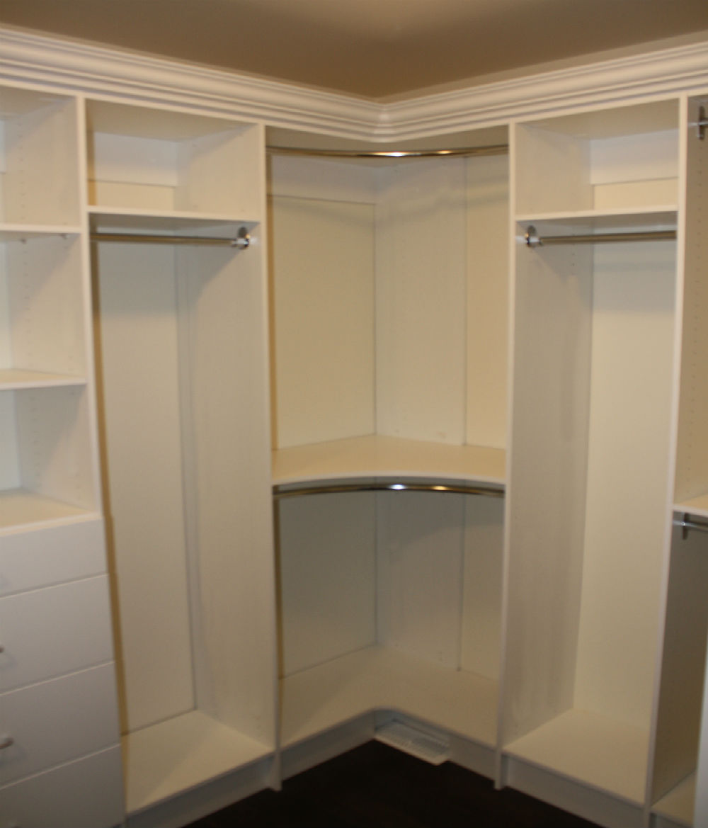 Closet corners toronto custom concepts kitchens Corner wardrobe ideas