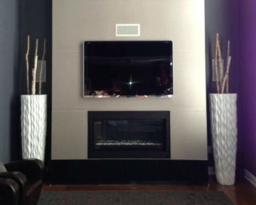 Fireplace TV Black Cabinets