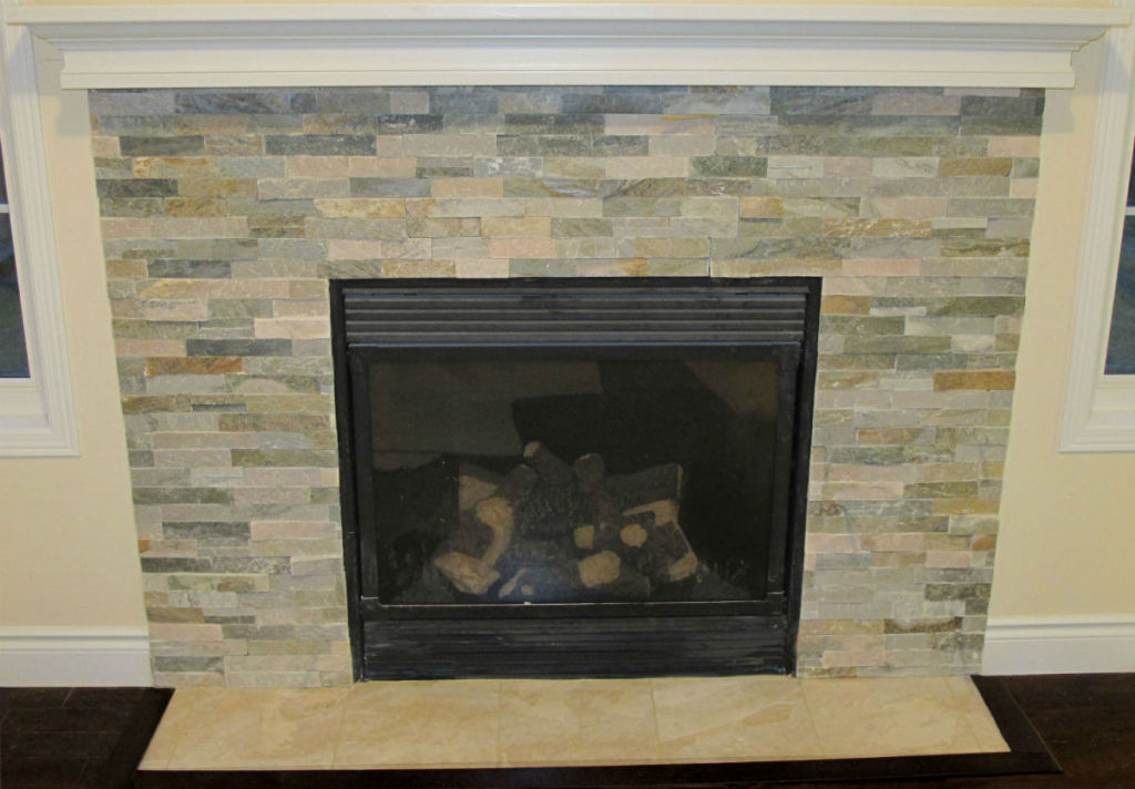 Ledgestone Fireplace Toronto Custom Concepts Kitchens