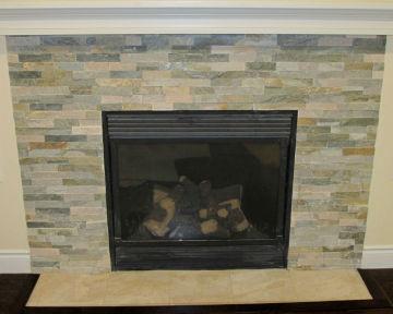 Ledgestone Fireplace