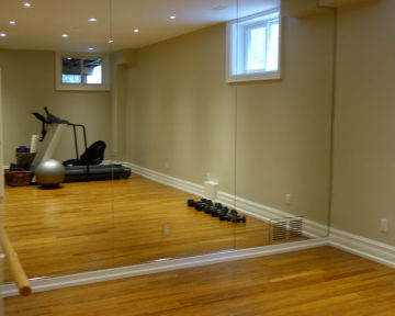 Mirrored Gym Wall