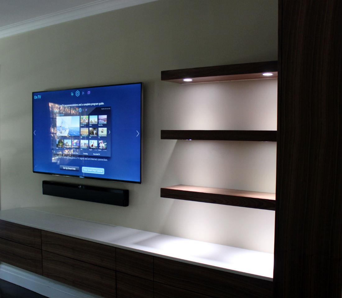Modern Shelf with LEDs