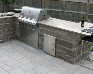 Outdoor BBQ Quartz Countertop