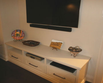 Wall Mounted TV Media Room