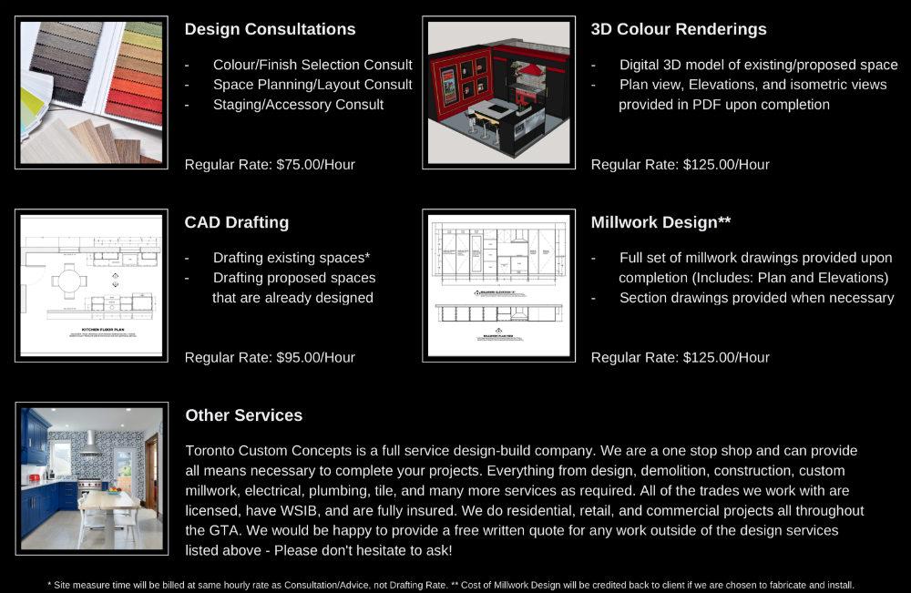 Toronto Designer Rates