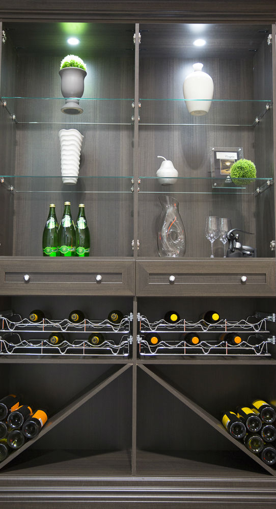 Wine Unit Glass Shelves & Wine Cellar Storage | Toronto Custom Concepts - Kitchens Bathrooms ...