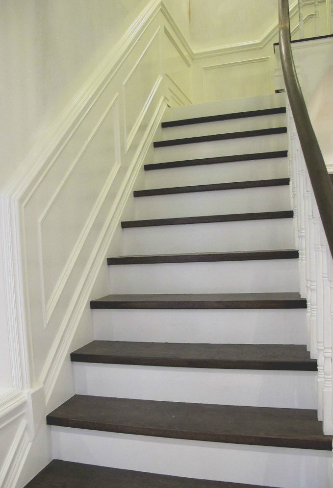 Wood Trim Staircase Painting