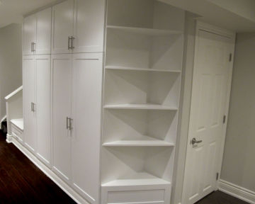 Basement Storage Corner