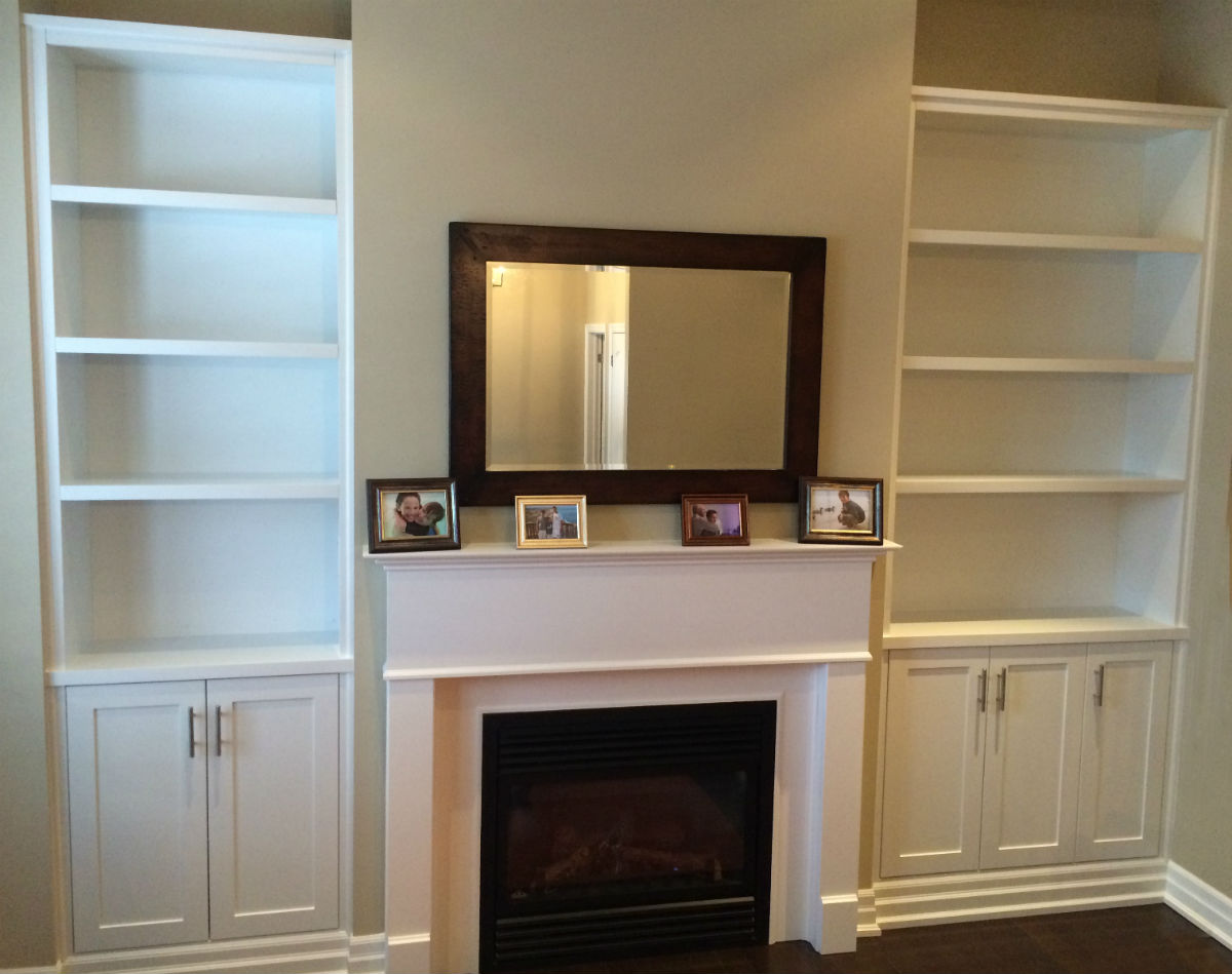 storage electric unit fireplace shelves bookshelves bookcase with