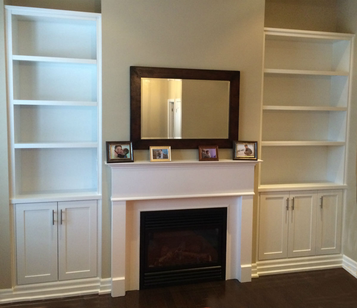 Wall Unit Shelves Open Shelving Fireplace Bookshelves