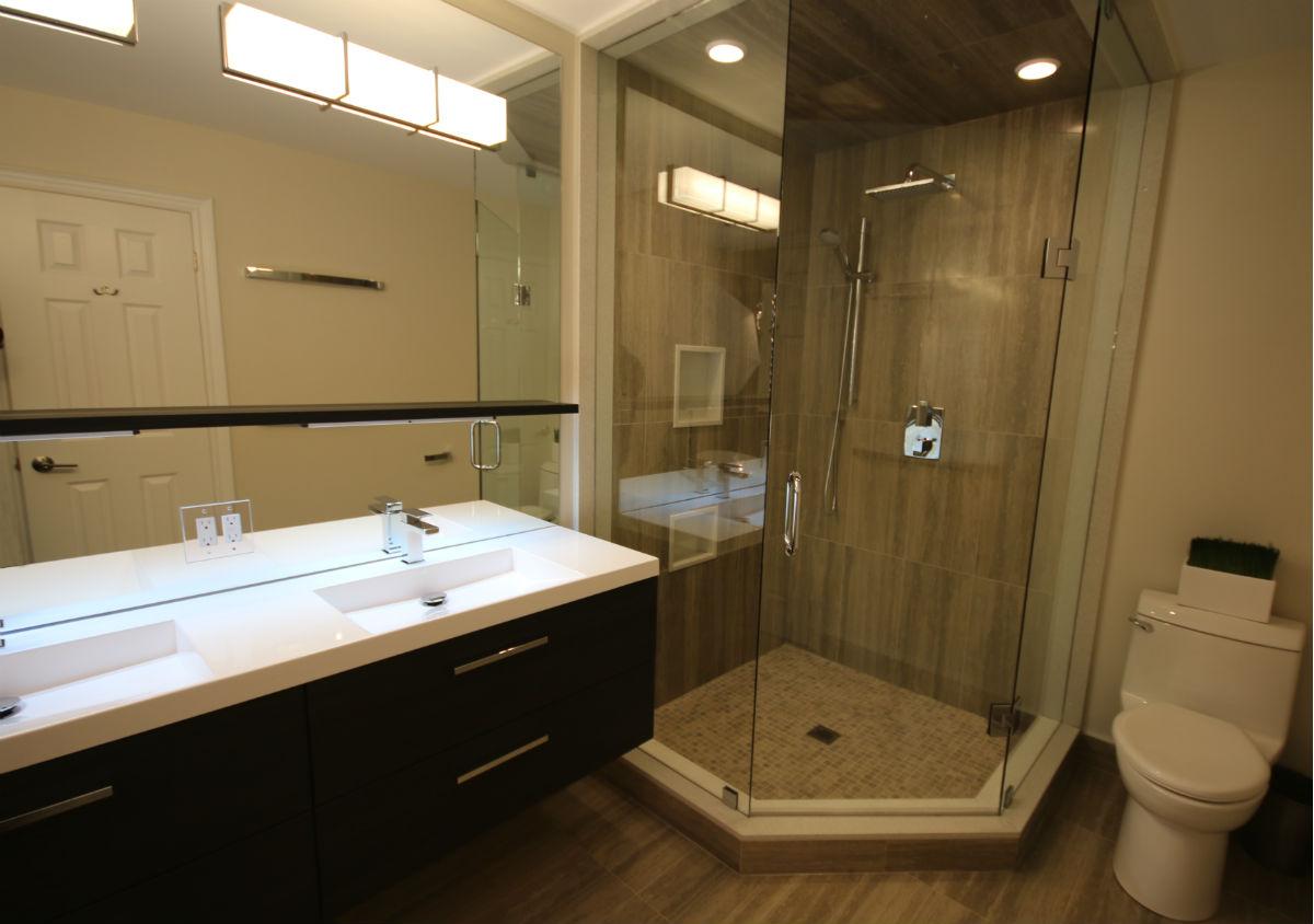 Oakville Bathroom Shower Reno
