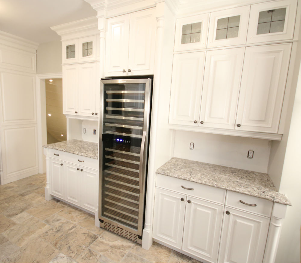Kitchen Builtin Wine Fridge Side