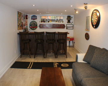 Toronto Basement Family Room Bar