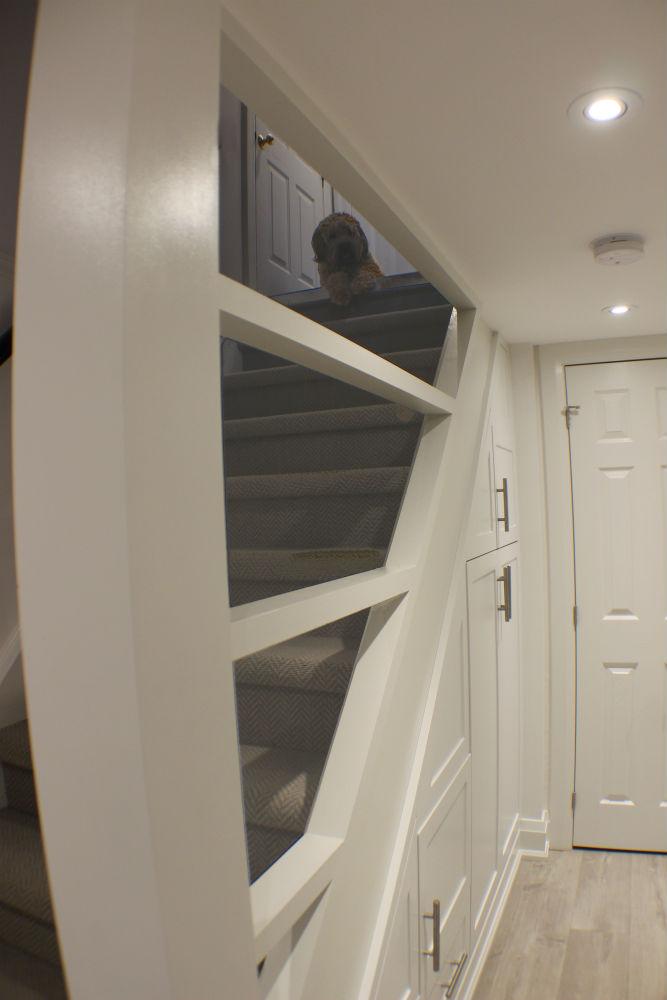 Toronto Basement Staircase Storage Toronto Custom Concepts Kitchens Bath