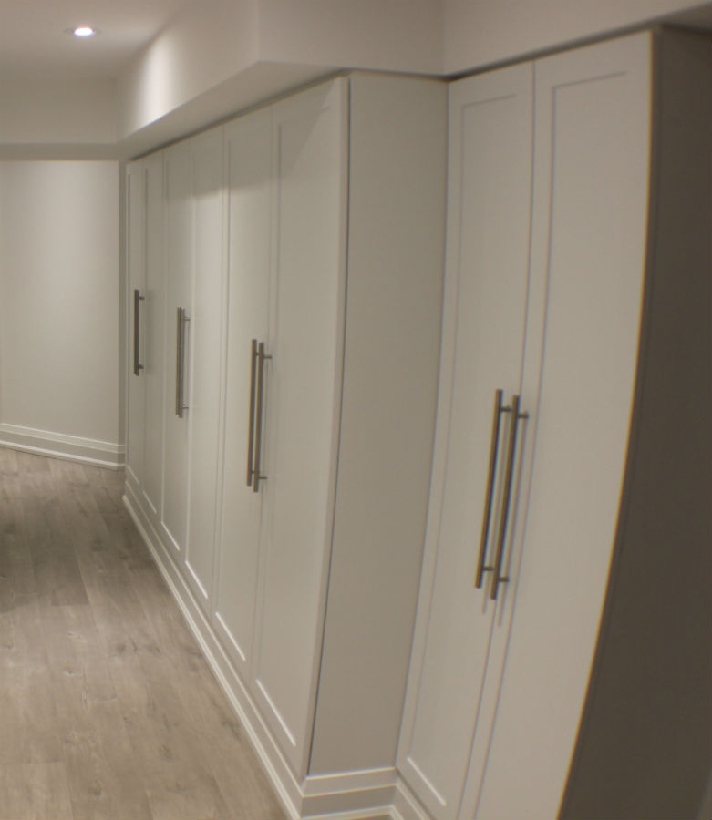 Toronto basement storage toronto custom concepts kitchens bathrooms wall units basements - Custom cabinet doors toronto ...