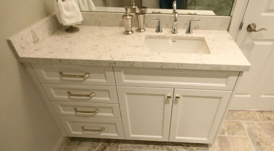 Bathroom White Quartz