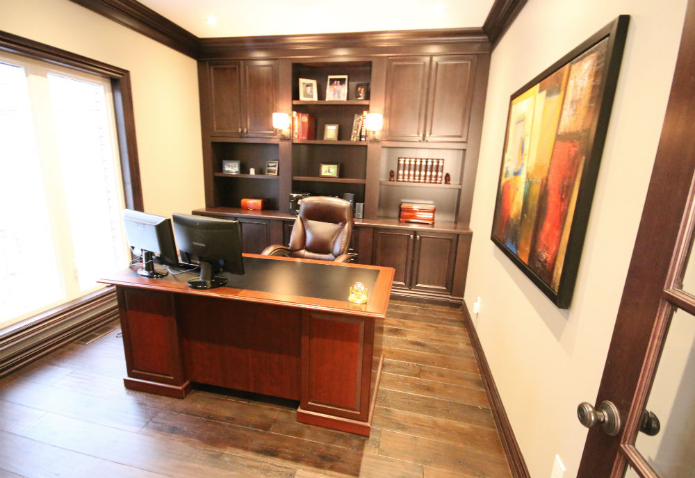 Office Builtin Dark Wood