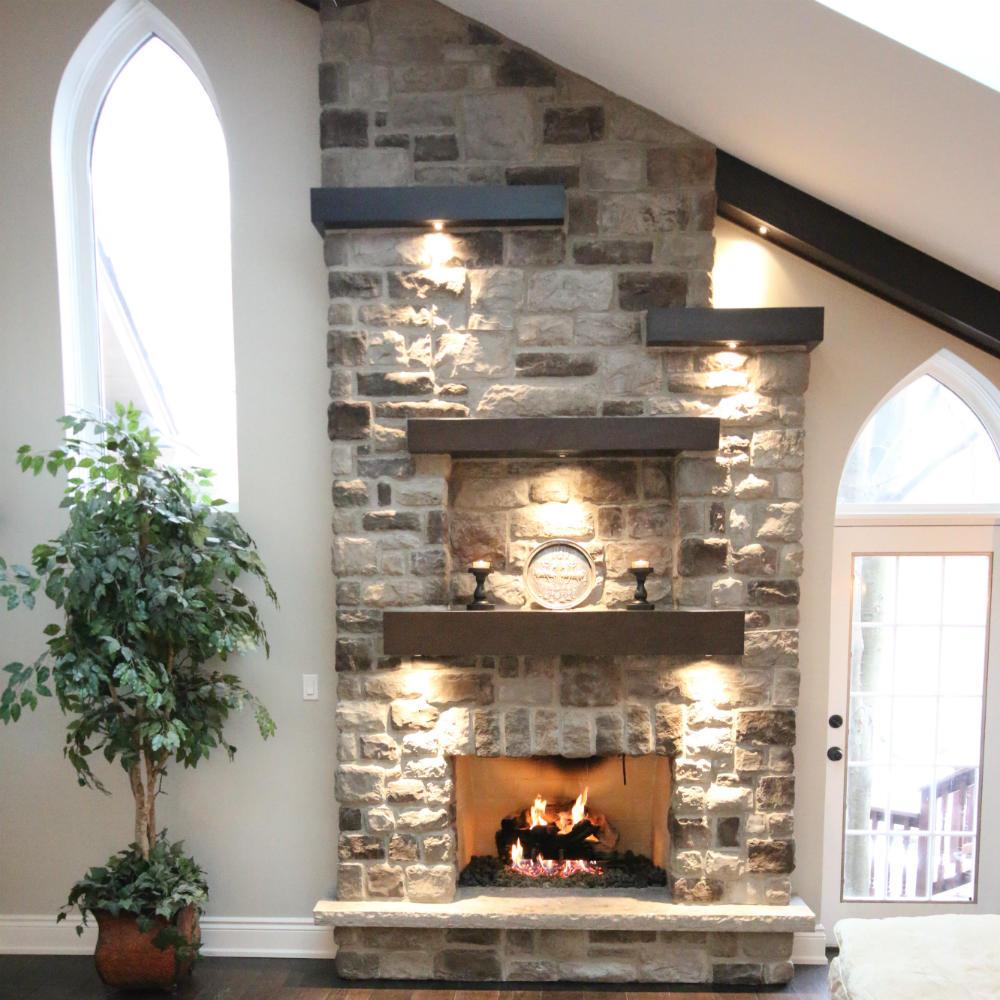 Stone Fireplace Renovation
