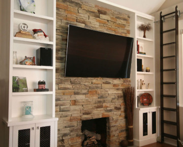 Toronto Wallunit Fireplace TV