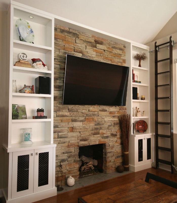 Toronto Wallunit Fireplace TV