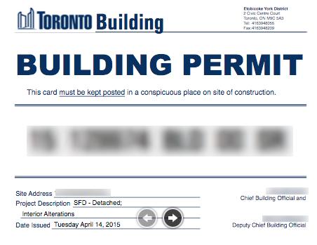 Toronto Building Permit