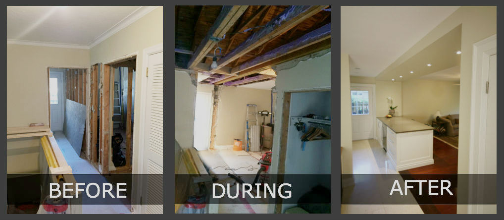 Toronto Load Bearing Wall Removal Before After