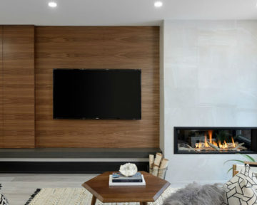 Oakville Modern Wallunit Fireplace