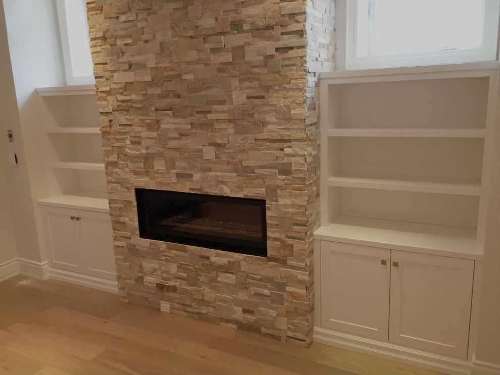 Toronto Basement Fireplace