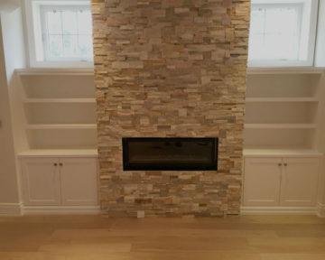 Toronto Basement Fireplace