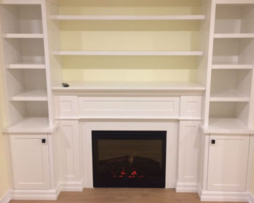 Burlington Basement Fireplace