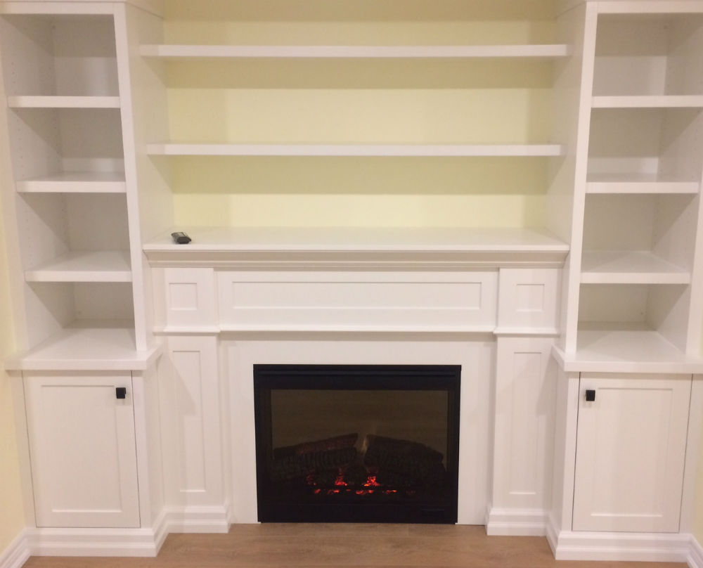 Burlington Basement Fireplace