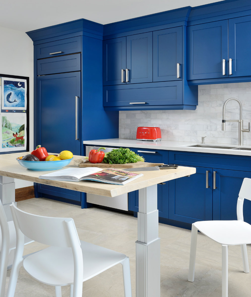 Toronto Custom Made Blue Kitchen