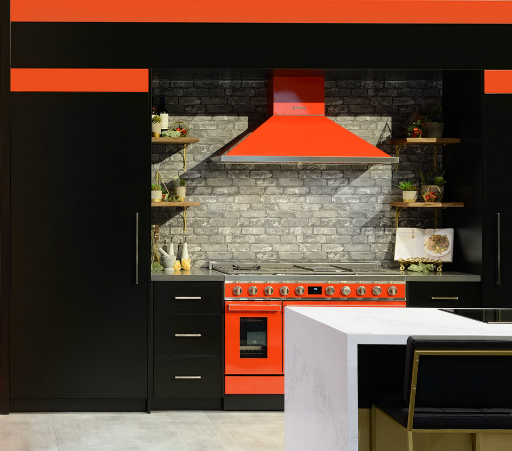 Toronto Custom Red Kitchen
